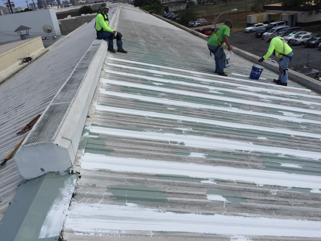Commercial Roofing Repair on Honolulu warehouse