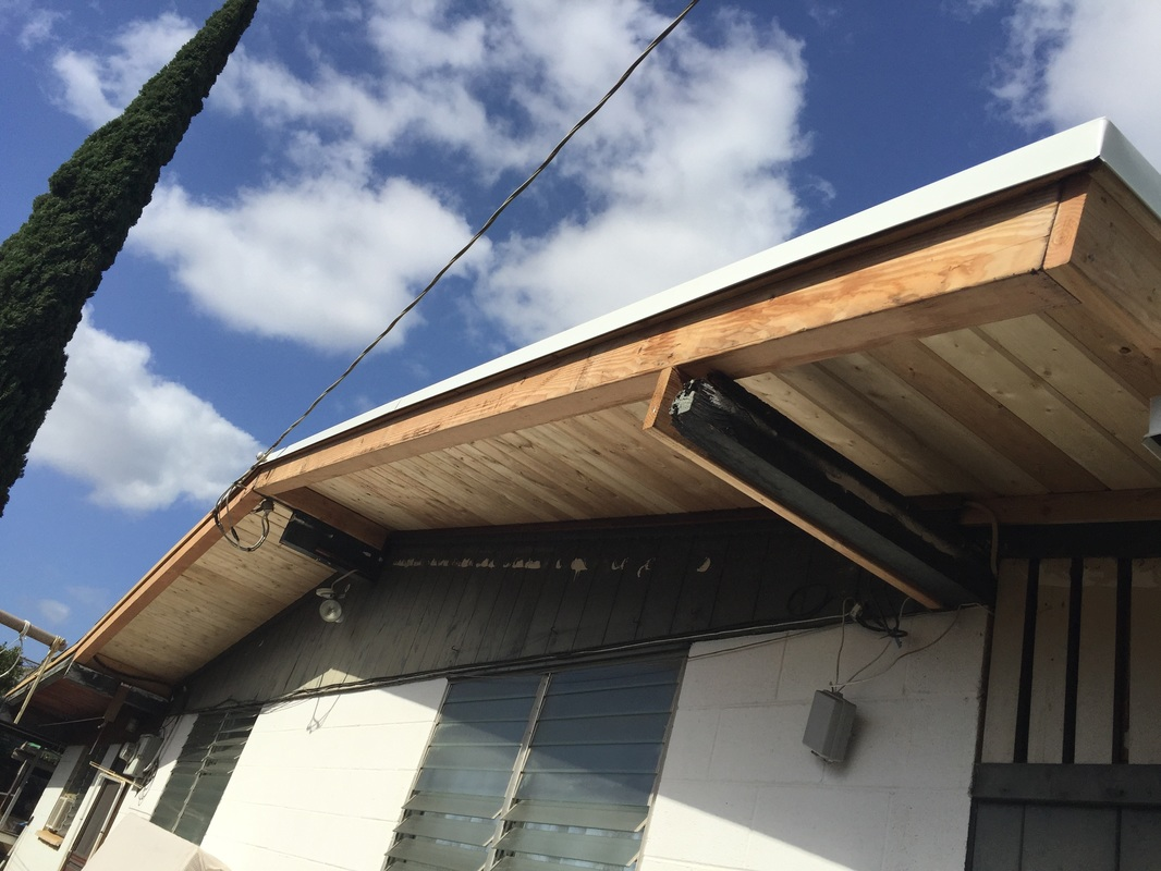 Facia wood damage roof repair in Honolulu